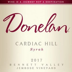 Donelan: Cardiac Hill 2017 wine label